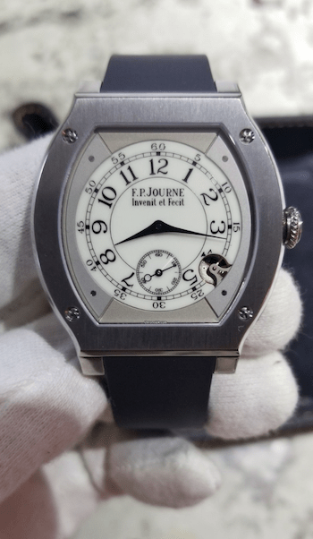 F. P. Journe quartz watch gets the white glove treatment