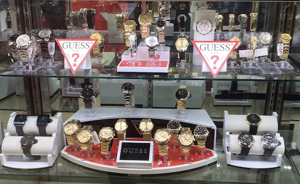Guess department store watches