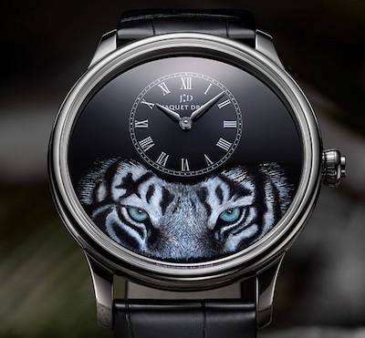 Jaquet Droz Petite Heure Minute Tiger