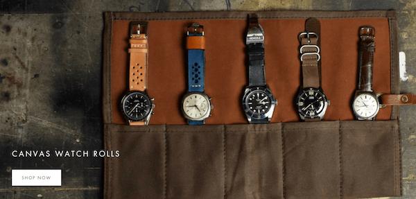 Monochrome watch website rolls