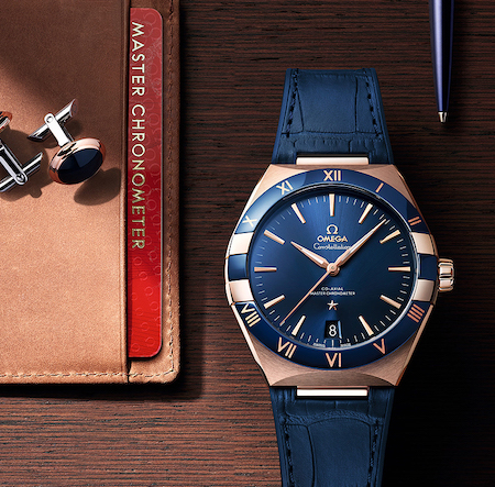 OMEGA Constellation blue and gold - new watch alert