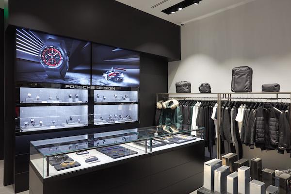 Porsche Design watch wall
