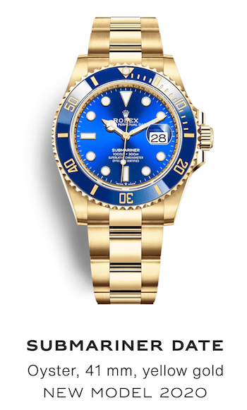 Blue Dial Submariner with Blue Bezel on a Yellow Gold Bracelet