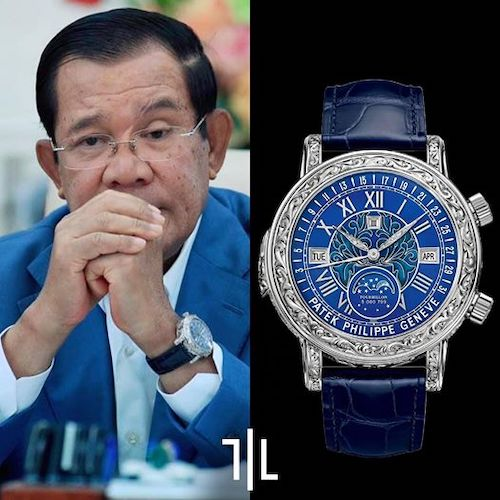 Cambodian Prime Minister wearing a Patek