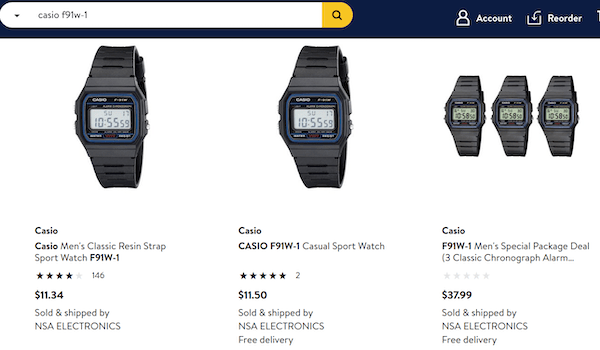 Casio product page