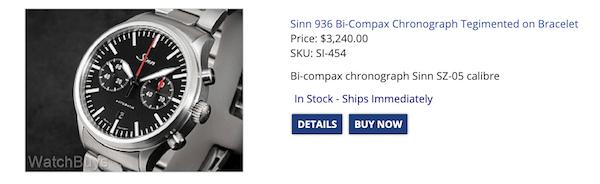 No fake watches here - Sinn 936 Bi-Compax Chronograph Tegimented on Bracelet