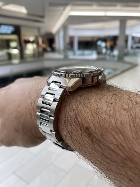 Sinn 104 perched on wrist
