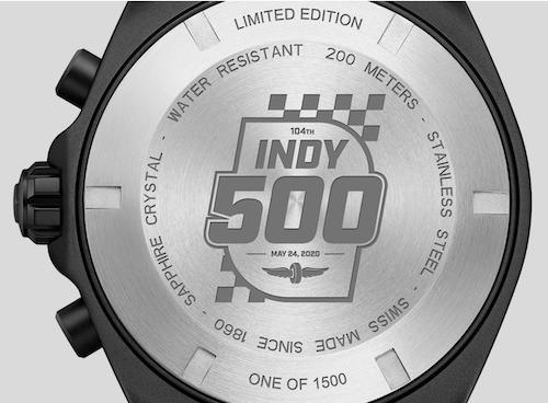 TAG Heuer F1 Indy 500 caseback