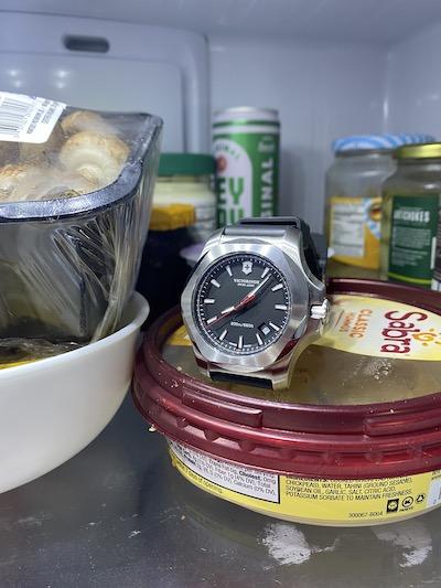 Victorinox I.N.O.X. in refrigerator