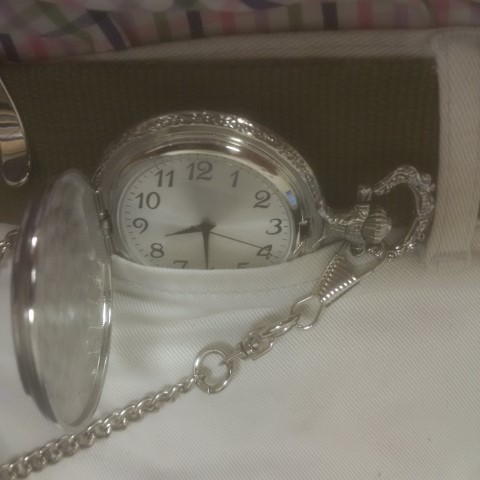 The GEORGE pocket watch in situ
