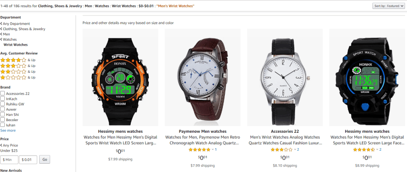 Amazon Penny Watches