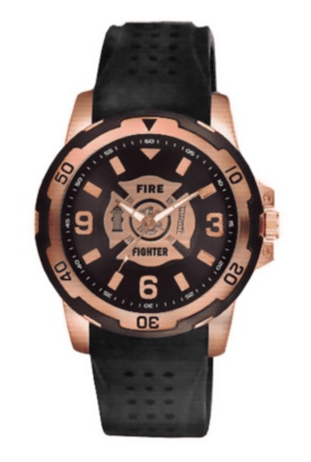 Aquaforce 54Y, Rose Gold & Black Firefighter Dress Watch for aBlogtoWatch