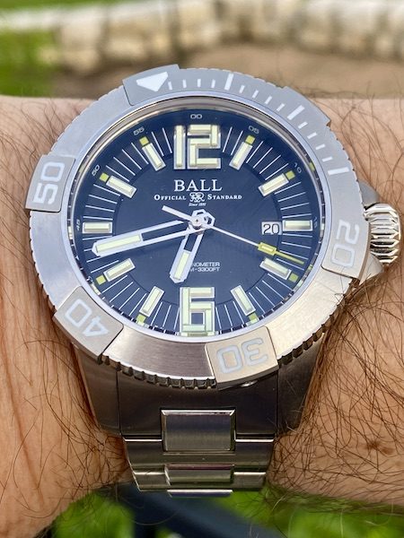 Ball DeepQuest II close up on wrist