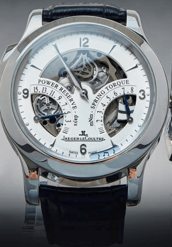 Jaeger LeCoultre Spring Torque Chronograph with power reserve indicator
