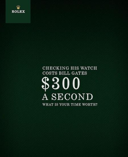 Rolex ad reinforces the reason behind Rolex's popularity