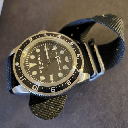 Stührling Original Cobia Diver laid on flat surface