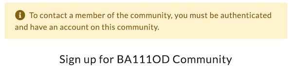 BA1110D community authentication