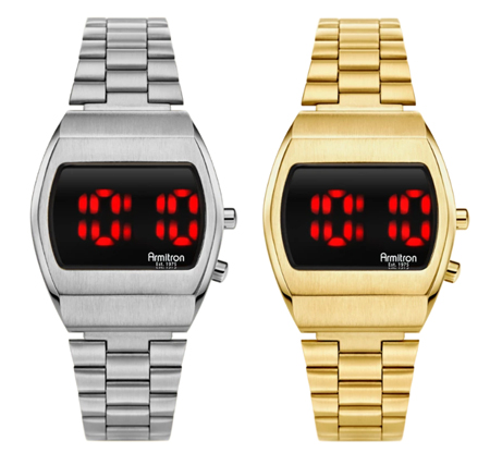 Silver or gold digital watches