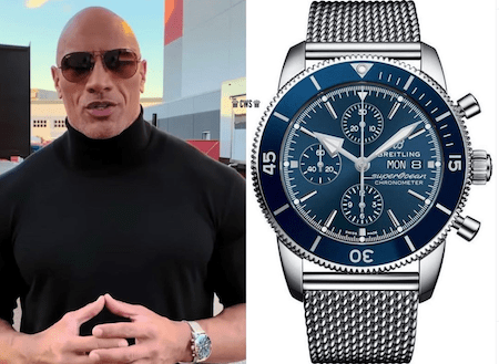 Celebrity watches - Dwayne Johnson's Breitling
