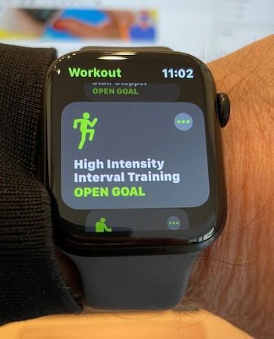 Apple Watch open goal
