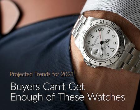 Chrono24.com's take on 2021 watch trends