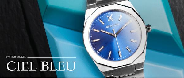 Kickstarter microbrand watches - blue Moulin