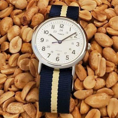 Timex Weekender and peanuts