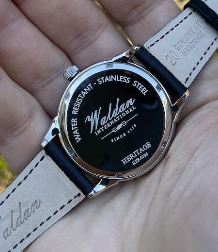 Waldan Watch Heritage Professional caseback