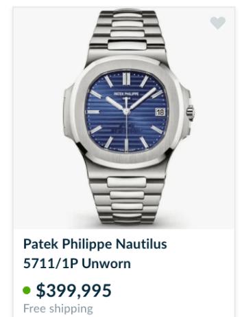 Nautilus price chrono24