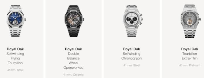 Audemars Piguet Royal Oak luxury watch sales