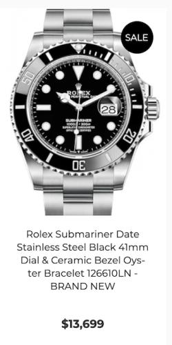 Gray market watches - Rolex Submariner