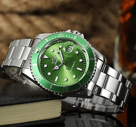 Winner Automatic watch on its side