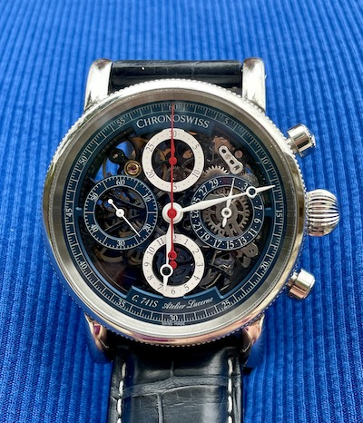 Chronoswiss Open Chronogragh Flag Blue 2