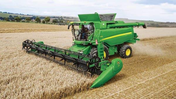 John Deere wheat harvester