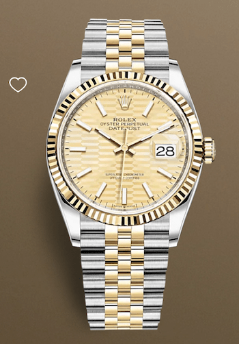 Rolex Datejust 36 Oystersteel and gold
