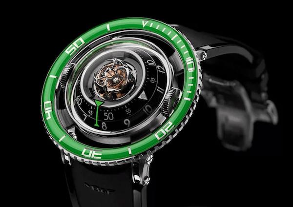Green watch dial Aquapod