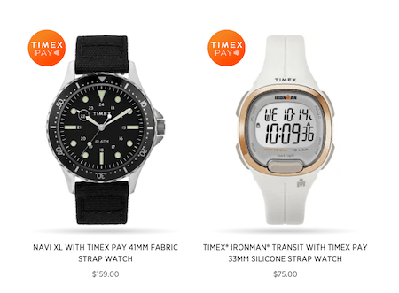 Timex Pay watches last two