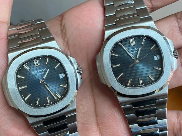 Real vs. fake - watch swap scam