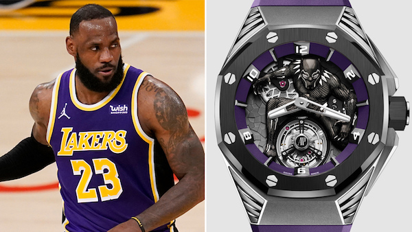 Celebrity watches - LeBron James - Black Panther