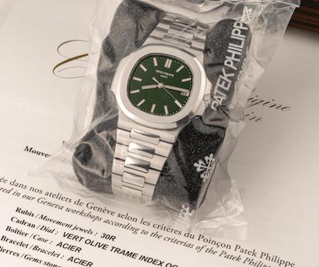 Patek Philippe Nautilus Green Dial wrapped