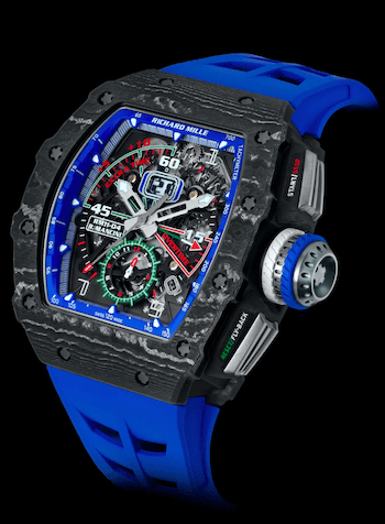 Roberto Mancini's Richard Mille RM 11-04 automatic flyback chronograph