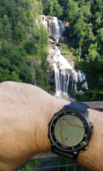 Garmin Descent Mk2S goes chasing waterfalls