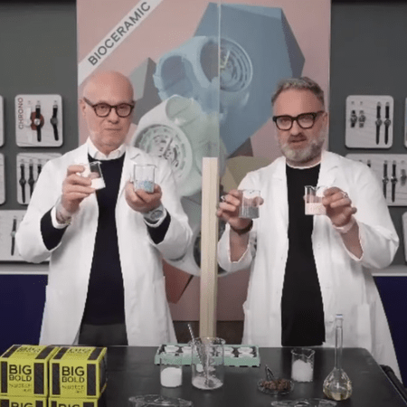 Swatch Bioceramic in the lab
