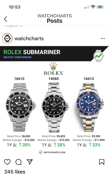 don't buy a Rolex - they cost a lot!