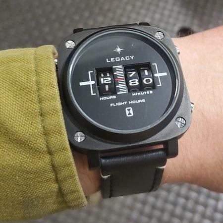 Legacy Flight hours on wrist