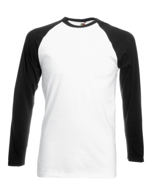Fruit Of The Loom Men's Long Sleeve Baseball T-Shirt