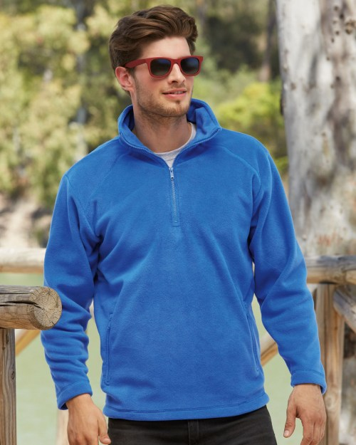 Fruit Of The Loom Men's Half Zip Outdoor Fleece