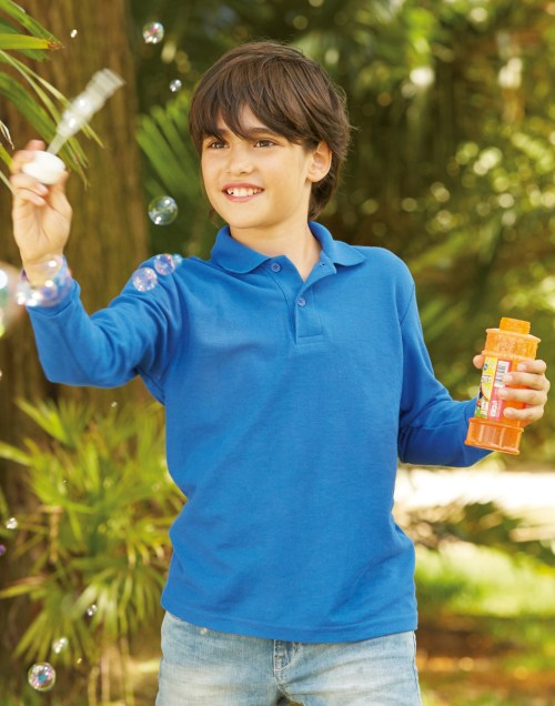 Fruit Of The Loom Children's Long Sleeve 65/35 Polo