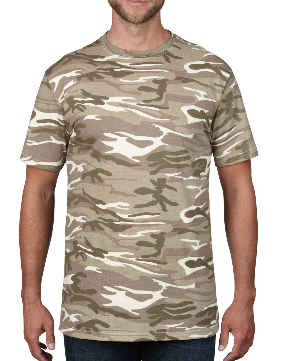 Anvil Adult Midweight Camouflage Tee