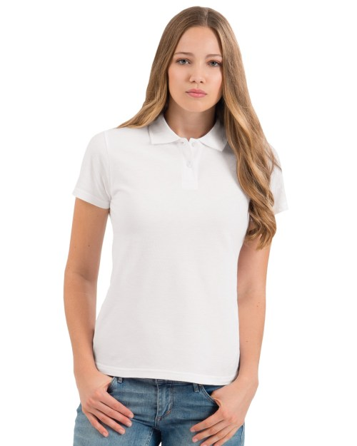 B and C ID.001 Women's Short Sleeved Piqué Polo